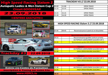 High Speed Race Weekend Septembre 2018